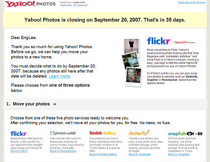 Yahoo Photo is closing